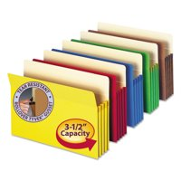 "Smead 3 1/2"" Exp Colored File Pocket, Straight Tab, Letter, Asst, 5/Pack -SMD73892"