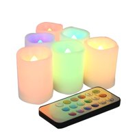 Product Image Candle Choice Set Of 6 Color Changing Indoor Outdoor Flameless Votive Candles With Remote And