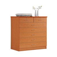 Hodedah 7 Drawer Dresser, Five Large Drawers, Two Smaller Drawers with Two Locks, Multiple Colors
