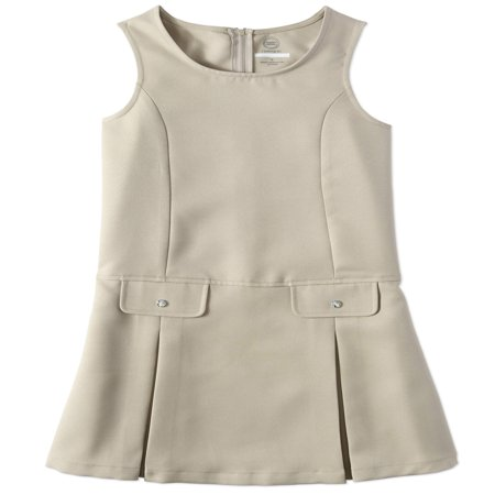 Little Girls Uniform (Wonder Nation School Uniform Rhinestone Twill Jumper (Little Girls & Big Girls) )