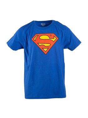 Royal Blue DC Comics Superman Logo with HD Ink Short Sleeve Tee (Little Boys & Big Boys)