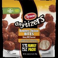 Tyson Any'tizers Honey BBQ Boneless Chicken Bites, 44 oz. Family Pack (Frozen)