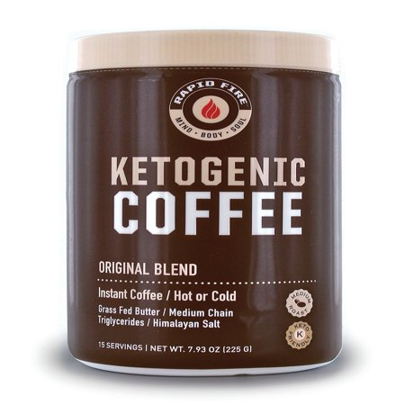 Rapid Fire Ketogenic Coffee Instant Coffee Mix, Keto Diet