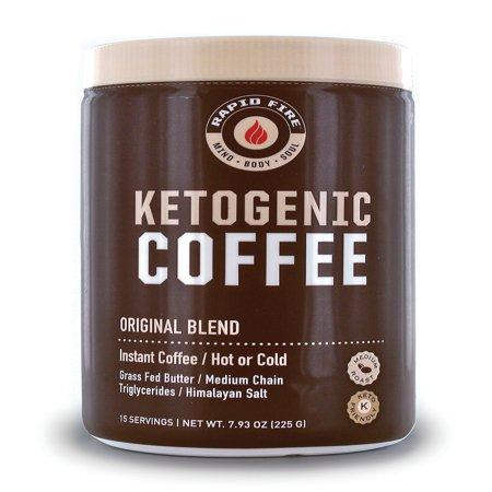 Rapid Fire Ketogenic Coffee Instant Coffee Mix, 7.9 Oz, 15 Servings - Walmart.com