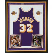 a07ccaf91 Magic Johnson Los Angeles Lakers Deluxe Framed Autographed Purple Mitchell    Ness Hardwood Classics Swingman Jersey