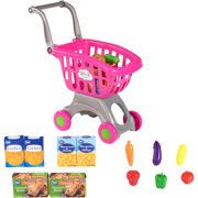 Spark. create. image shopping cart & food play set, pink, designed for ages 2 and up