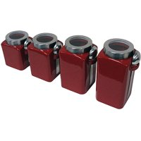 Mainstays 4-Piece Canister Set, Crimson