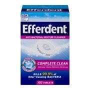 Efferdent Anti-Bacterial Denture Cleanser Complete Clean, 102.0 CT