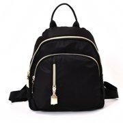 b9b261a421 Fancyleo Fashion Women Small Backpack Travel Nylon Handbag Shoulder Bag  Black