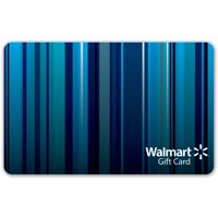 Blue Stripes Walmart Gift Card