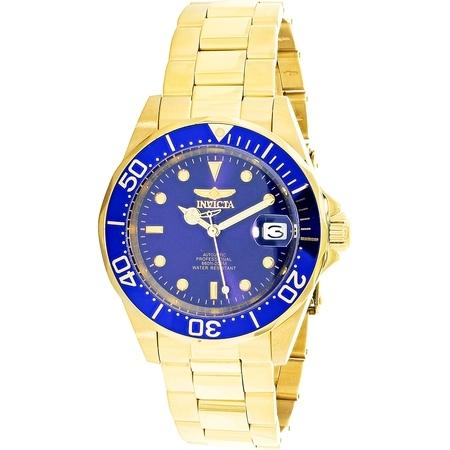 Invicta Men's Men Automatic Pro Diver G3 8930 Blue Gold Tone Self Wind Diving