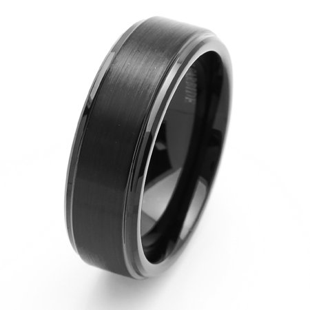 Free Engraving Men Women Personalized Inside Engraving Tungsten Carbide Wedding Band Ring 8mm Beveled Edges