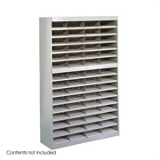 Scranton & Co Grey Mail Organizer - 60 Letter Size Compartments