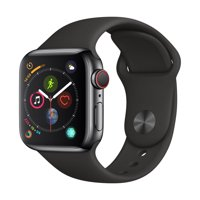AppleWatch Series4 GPS + LTE - 44mm - Sport Band - Stainless Steel Case