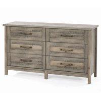 Better Homes & Gardens Modern Farmhouse 6-Drawer Dresser, Rustic Gray Finish
