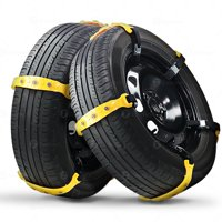 Zone Tech Car Snow Chains -  Strong Durable All Season Anti-Skid Car, SUV, and Pick Up Tire Chains for Emergencies and Road Trip-10 Pieces