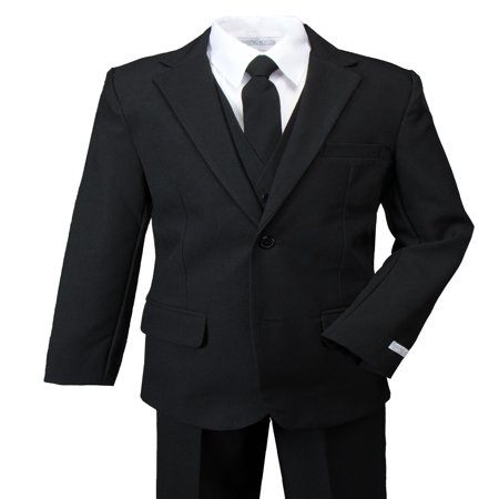 Spring Notion Boys' Modern Fit Dress Suit Set Black](Boys Wool Suits)