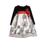 c03eaa29e90 Bonnie Jean Baby Girls Black White Check Bonaz Party Dress 12 months