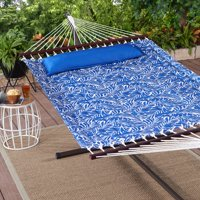 Mainstays Kita Cove Quilted Outdoor Double Hammock in Cobalt