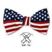 f7b60969731 Buy Your Ties - Red - White - Blue - American Flag Self Tie Bow Tie