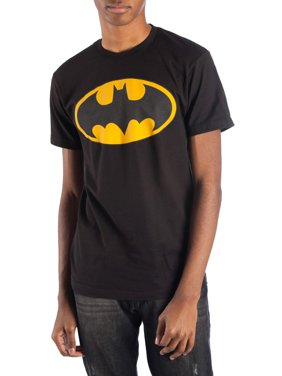 Batman Men's Reflective Logo Short Sleeve Graphic T-Shirt, up to Size 3XL