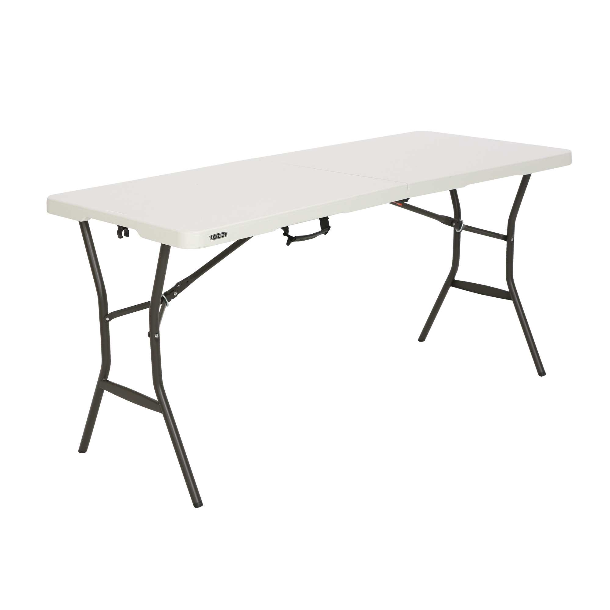 outdoor plastic tables Active Office Furniture lifetime 5 essential fold in half table pearl 280513