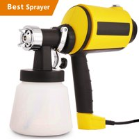 Up to 80% Off!! Hifashion Electric Paint Sprayer Gun Power Painter 400 Watt HVLP Spray Gun Kit for Home, 3 Nozzle Sizes, Lightweight, Easy Spraying and Cleaning, Perfect for Beginner (US Stock) Yellow