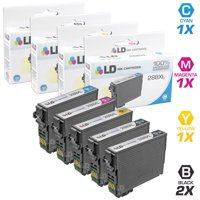LD Remanufactured Epson 288 / 288XL / T288 / T288XL Set of 5 High Yield Cartridges (2 Black, 1 Cyan, 1 Magenta, 1 Yellow) for use in Expression XP-330, XP-430, XP-434 & XP-440