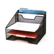 Mind Reader Mesh Desk Organizer 5 Trays Desktop Doent Letter Tray For Folders Mail