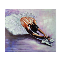 Hand Painted Purple Ballerina with embellsihed Tutu dress