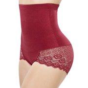 dea7b44b1 LELINTA High Waist Plus Size Ultra Firm Control Tummy Shapewear Waist  Trainer Lace Panties Butt Lift