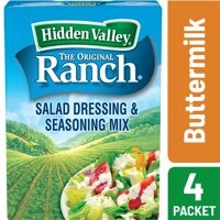(2 Pack) Hidden Valley Original Ranch Salad Dressing & Seasoning Mix, Buttermilk Recipe 1.6 Oz