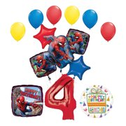 The Ultimate Spider Man 4th Birthday Party Supplies And Balloon Decorations