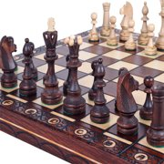 Elegant Wood Chess Set, Chess Pieces, Chess Board & Storage