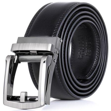 Gallery Seven Leather RatchetBelt For Men - Adjustable Click Belt (Men Ratchet Belt)