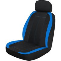 Auto Drive SGL Sports Seat Cover, Blue