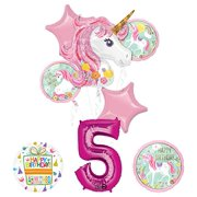 Unicorn Party Supplies Believe In Unicorns 5th Birthday Balloon Bouquet Decorations