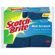 Scotch-Brite Non-Scratch Scrub Sponge, 6 Count