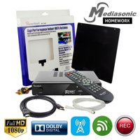 Mediasonic HOMEWORX HW155PVRA HDTV Converter Box w/ TV Tuner Recording, Media Player, Antenna, & HDMI Cable