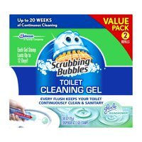 Scrubbing Bubbles Toilet Cleaning Gel Starter Kit, Glade Rainshower, 2 ct, 1.34 oz
