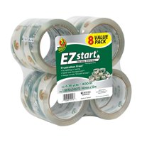 Duck EZ Start Packaging Tape 1.88 in. x 54.6 yd., Clear, 8-Count