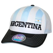 c8c49b0bc07 Team Argentina World Cup Soccer Federation Jersey Hook Structured Mesh Back  Hat