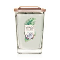 Yankee Candle Elevation Collection with Platform Lid Large 2-Wick Square Candle, Shore Breeze