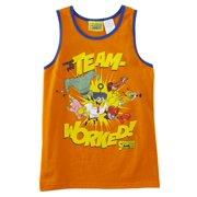 Spongebob Squarepants Boys Orange Team Worked Tank Top Sleeveless Shirt