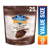 Blue Diamond Almonds Oven Roasted Dark Chocolate Almonds, 25 Oz.