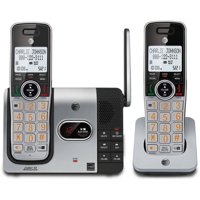 AT&T CL82214 DECT 6.0 Expandable Cordless Phone with Answering System and Caller ID, 2 Handsets, Silver/Black