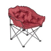 Mac Sports Folding Padded Outdoor Club Camping Chair With Carry Bag Wine Red