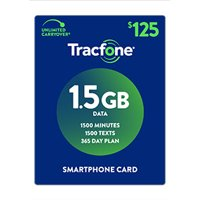 TracFone $125 Smartphone 1.5 GB Plan (Email Delivery)