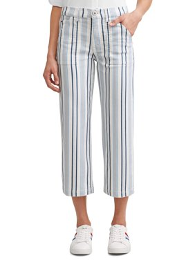 Aly Wide Leg Cropped Jean Women's (Striped)