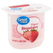 Great Value Original Strawberry Lowfat Yogurt, 5.3 oz